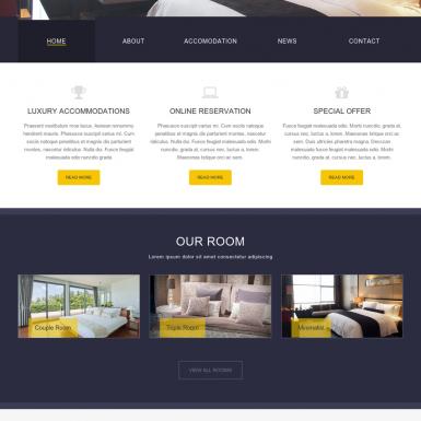 Example lexury resort / hotel website