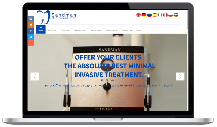 Sandman micro-dentistry with shop