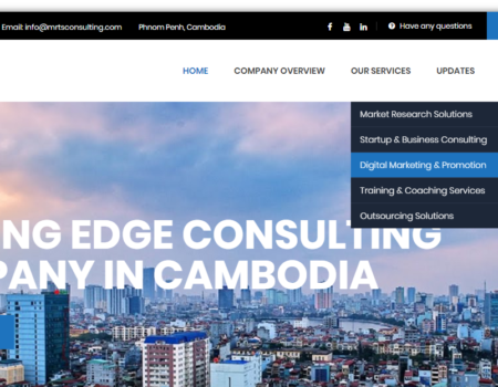 Business consulting website works completed