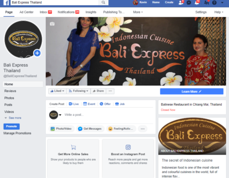 Bali Express restaurant / Chiang mai social media works